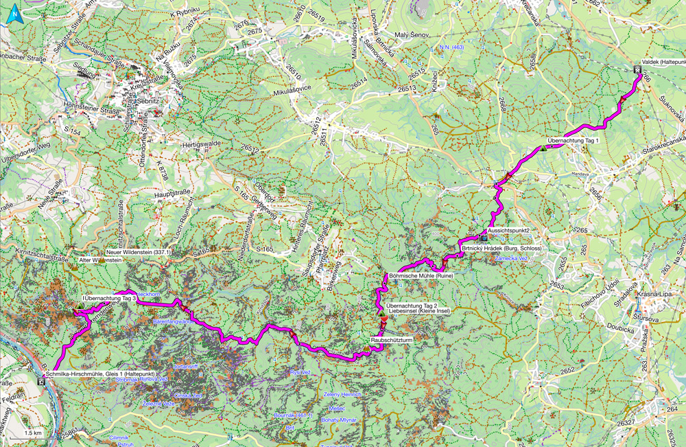 map from Valdek to Schmirka