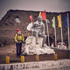 Alexander von Humboldt statue in Chimborazo national park