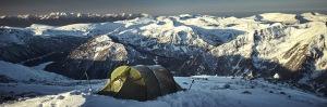 panorama rila mountains musala camp