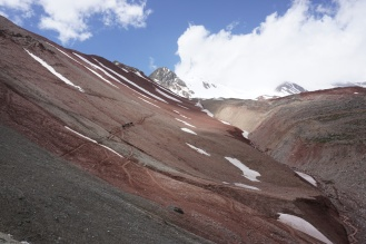 the track to Peak Lenin