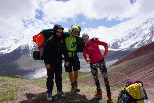 friends on a mountain trip