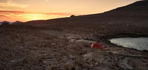 rocky campsite