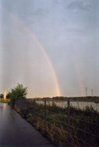 rainbow over Vienna