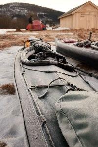 frozen kayak