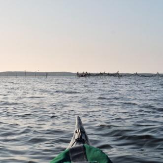 paddling on the Achterwasser