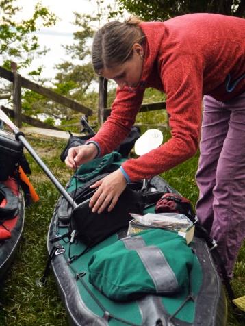 packing the kayak