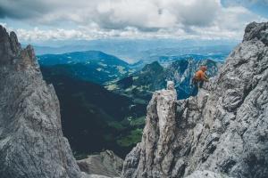 Dolomites – Torri Del Vajolet (Torre Delago) the last steps to the top
