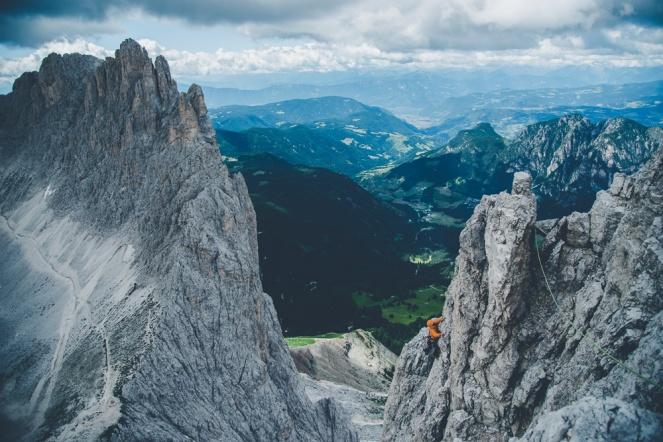 Dolomites – Torri Del Vajolet (Torre Delago) the last pitch