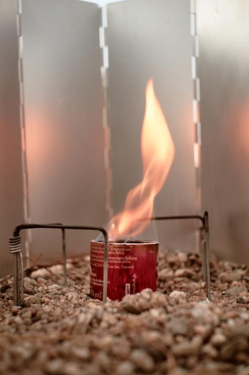 Trekking stove self-made alcohol stove