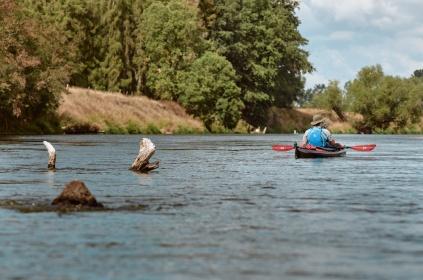 Paddling on the Mulde enjoying the nature