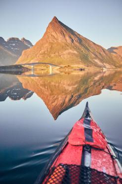 Kayaking at Fredvang ©Christian Hein